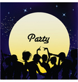 party people dancing vector image