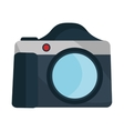 Photographic camera isolated flat icon vector image