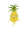 Pineapple Girly Cartoon Character vector image vector image