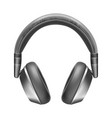 realistic headphones wireless sound vector image