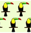 Seamless pattern made of toucans vector image vector image