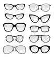 set stylish glasses vector image
