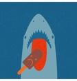 Shark eating ice cream vector image vector image