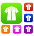 shirt polo set collection vector image vector image