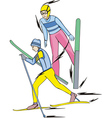 Skiing Nordic Combined vector image