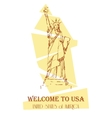 Statue of Liberty design for cards guide vector image vector image