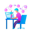 student watch recorded lecture online education vector image vector image