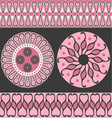 Style scroll background pattern vector image