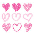 sweetheart i love you valentine heart brush cute c vector image vector image