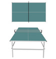 table tennis on white vector image vector image
