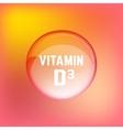 Vitamin D3 02 A vector image vector image