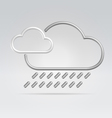 weather rain vector image vector image