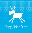 white cristmas funny deer with snowflakes new vector image vector image