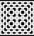 White geometric pattern on black background