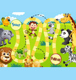 wild animals game template vector image vector image