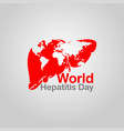 world hepatitis day logo icon vector image