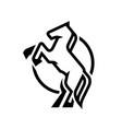 horse logo symbol vector image