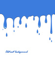 Spilled blue color on a white background vector image