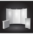 Expo stand exhibit vector image