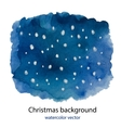 Hand painted Blue dark watercolor Christmas vector image