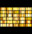 set of gold realistic metal texture seamless vector image
