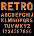 vintage 3 dimensional typeset retro font vector image