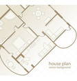 house plan architectural background vector image