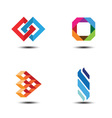 abstract logo design elements vector image vector image
