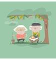 adult gardener family vector image