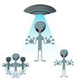Alien icons vector image