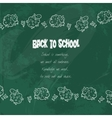 Background On Chalkboard vector image