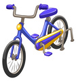 Bicycle with blue frame vector image