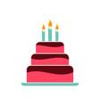 birthday cake - birthday sessert - bakery symbol vector image