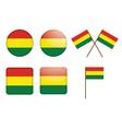 Bolivia Flag Badge vector image vector image