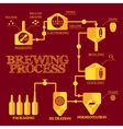 Brewery process infographics vector image