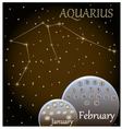 Calendar of the zodiac sign Aquarius vector image