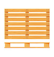 cartoon wood pallet isolated on white vector image