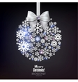 Christmas ball made from snowflakes Christmas vector image