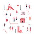 city - flat design style set isolated elements vector image