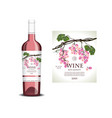 Conceptual label for rose wine vector image