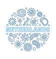 coronavirus - covid-19 in netherlands blue round vector image
