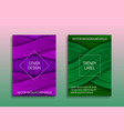 cover templates with volumetric texture trendy vector image