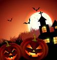 creepy halloween vector image vector image