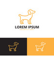 dog logo template vector image