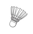 doodle shuttlecock for badminton from bird vector image