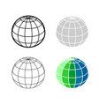 earth globe 3d mesh model icon ball sphere vector image