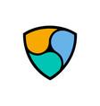 ethereum coin symbol logo vector image