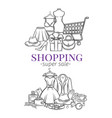fashion shopping banners vector image