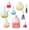 flasks icons vector image