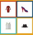 flat icon dress set of clothes panama heeled vector image vector image